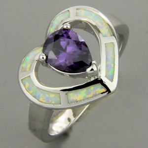 Amethyst And Opal Fashion Ring Free Shipping
