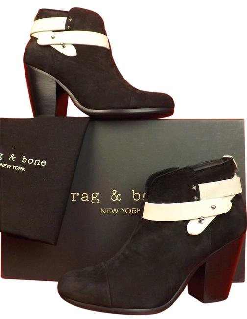 Item - Black/White Two Nubuck Belted Harrow Ankle 10 Boots/Booties Size EU 40 (Approx. US 10) Regular (M, B)