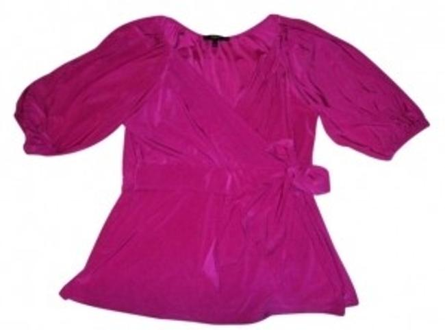 Preload https://item4.tradesy.com/images/express-fuchsia-v-neck-faux-blouse-size-12-l-10393-0-0.jpg?width=400&height=650