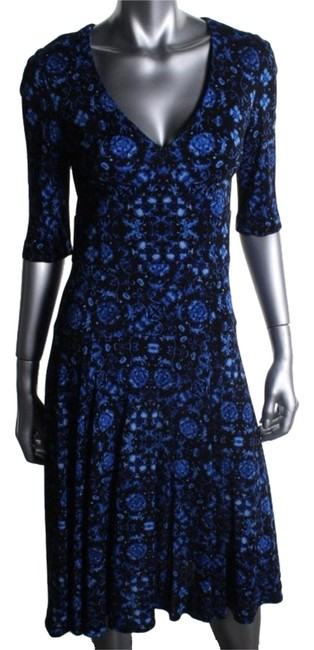 Preload https://img-static.tradesy.com/item/10394185/nanette-lepore-blue-black-wear-to-knee-length-workoffice-dress-size-petite-2-xs-0-3-650-650.jpg