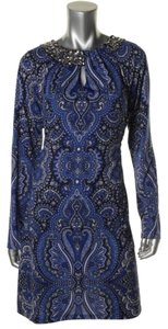 INC International Concepts short dress Blue Black on Tradesy