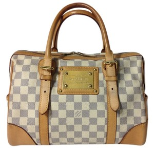 Louis Vuitton Berkeley Berkeley Berkeley Azur Damier Canvas Satchel in Damier Azur
