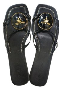 Prada black, gold Sandals