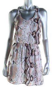 Aqua short dress Snake print on Tradesy