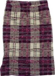 Tracy Reese Purple Cream Pink Tweed Skirt