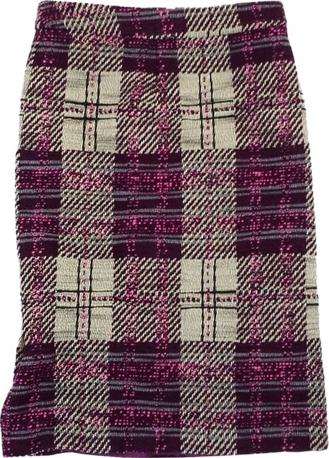 Preload https://item2.tradesy.com/images/tracy-reese-purple-cream-and-pink-tweed-plaid-size-4-s-27-10394986-0-1.jpg?width=400&height=650