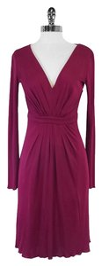 short dress Fuchsia Long Sleeve on Tradesy