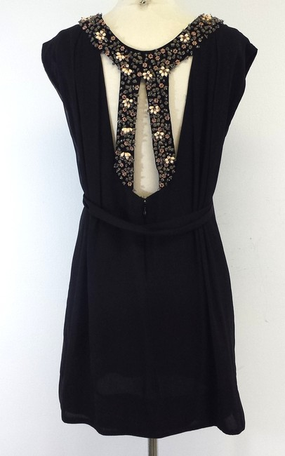 French Connection short dress Black Beaded Detail Silk on Tradesy