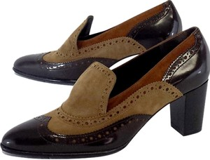 Robert Clergerie Brown Tan Suede Loafers Pumps