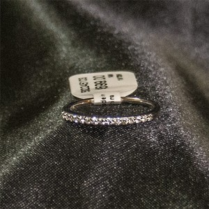 Ladies 14k White Gold & 1/6 Tdw Diamond Wedding Band