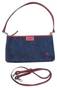 Burberry Blue Label Red Denim Shoulder Bag