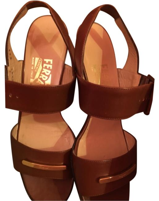 Item - Brown/Tan Vintage Casual Heels Pumps Made In Italy Formal Shoes Size US 5.5 Regular (M, B)