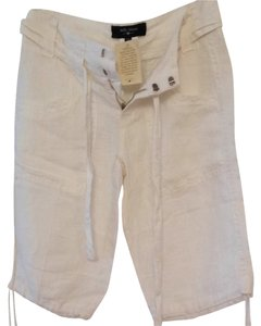 Billy Blues Nwt Bermuda Shorts White Linen