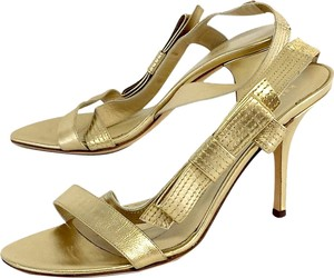 Kate Spade Gold Metallic Heels Sandals