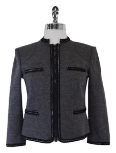 Diane von Furstenberg Grey Wool Blend Jacket