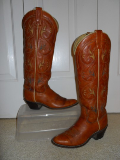 Acme Vintage Leather Western British tan Boots