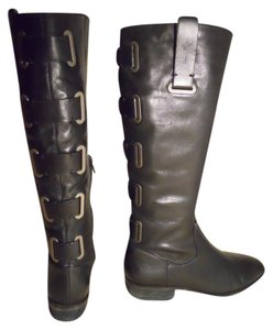 Arturo Chiang Leather Riding black Boots