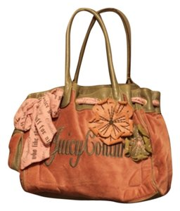 Juicy Couture Satchel in Pink & Grey