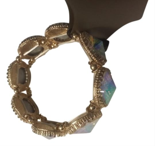 Other Golden over-sized iridescent bracelet Hypoallergenic