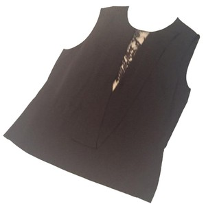 Robert Rodriguez Silk Lace And Silk Top Black