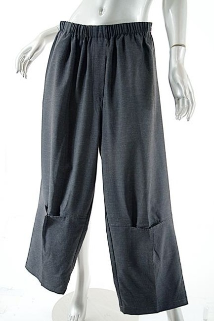 Kedem Sasson Elastic Charcoal Relaxed Pants Gray