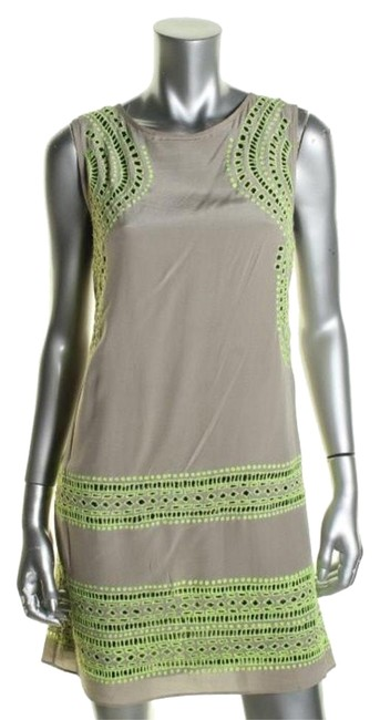 Shoshanna short dress taupe green on Tradesy