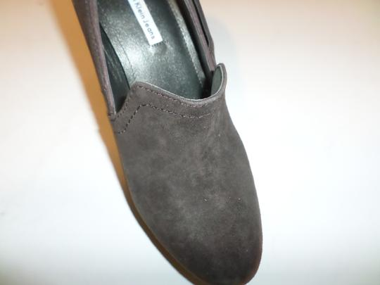 Calvin Klein Jeans Heels Brown/Silver And Leather Upper Rubber Sole Size 9 B Heel 4.5