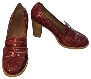 Marc by Marc Jacobs Penny Loafer Croc Heels Red Pumps