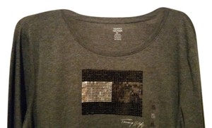 Tommy Hilfiger Top GREY WITH DESIGN IN THE CENTER