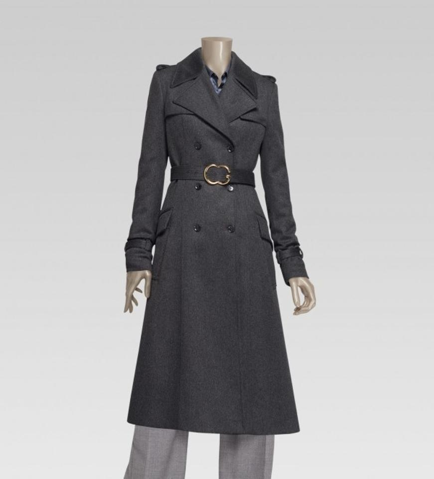 bf618241 Grey Cashmere Trench Coat