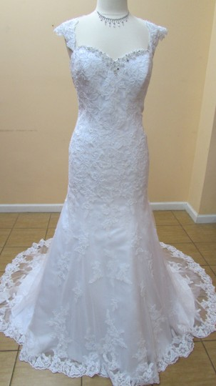 Preload https://item1.tradesy.com/images/alfred-angelo-white-satin-and-lace-2545-modern-wedding-dress-size-14-l-10399795-0-0.jpg?width=440&height=440