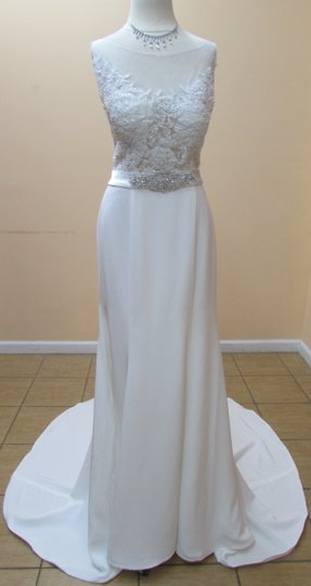 Preload https://item5.tradesy.com/images/alfred-angelo-ivorysilver-embroidered-lace-and-satin-2556-modern-wedding-dress-size-6-s-10399879-0-0.jpg?width=440&height=440