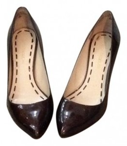 Enzo Angiolini patent leather brown Pumps