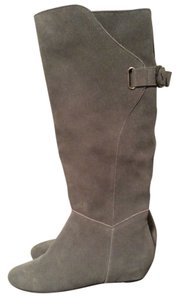 Steven by Steve Madden Leather Grey suede Boots