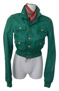 DSquared Bomber Emerald Green Leather Jacket