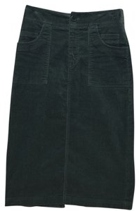 Margaret O'Leary Cord Cotton Skirt dark teal