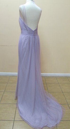 Alfred Angelo Dusty Mauve Soft Net 8631l Modern Bridesmaid/Mob Dress Size 8 (M)