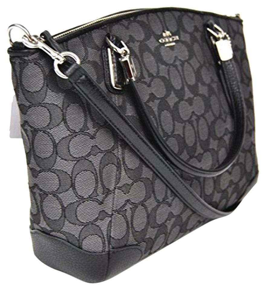 Coach Crossbody Satchel In Black Grey
