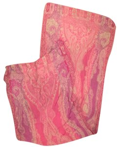 Lucky Brand Lucky Brand Pink/Purple Paisley 100% Wool Scarf