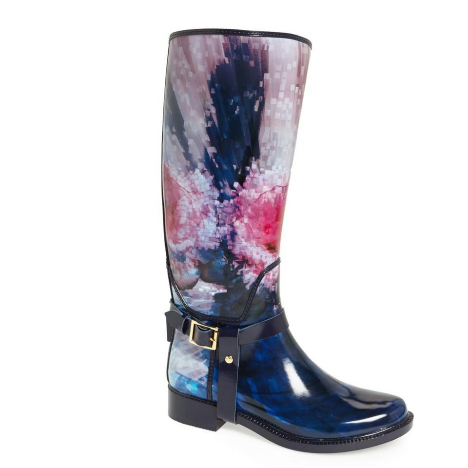 3ad50718e80a Ted Baker Navy   Floral  atiri  Rain Boots Booties. Size  US 7 Regular (M  ...