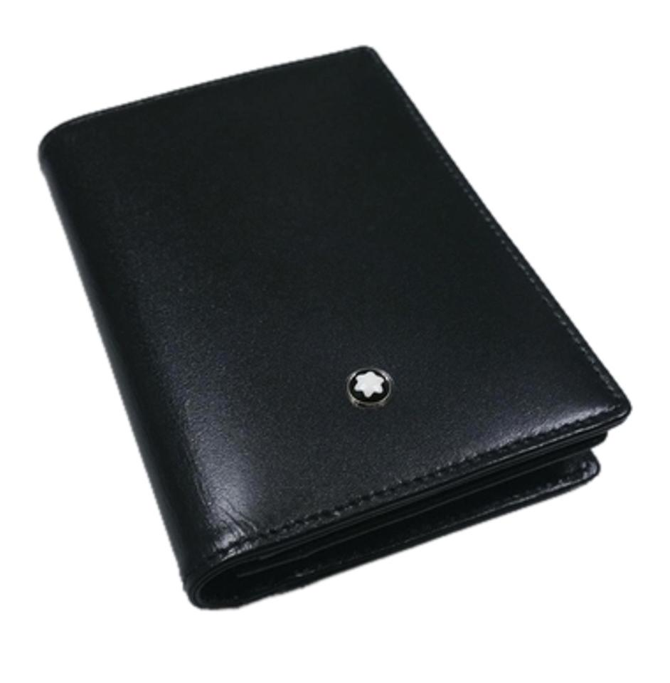 Montblanc black leather meisterstuck business card holder with montblanc leather meisterstuck business card holder with gusset colourmoves