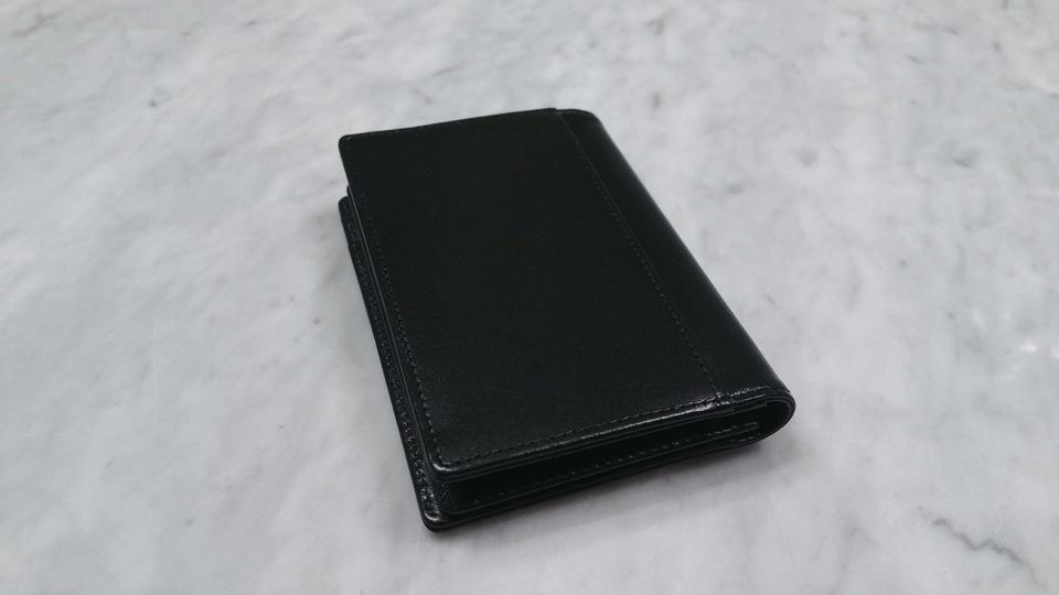 Montblanc black leather meisterstuck business card holder with montblanc leather meisterstuck business card holder with gusset 123456 colourmoves