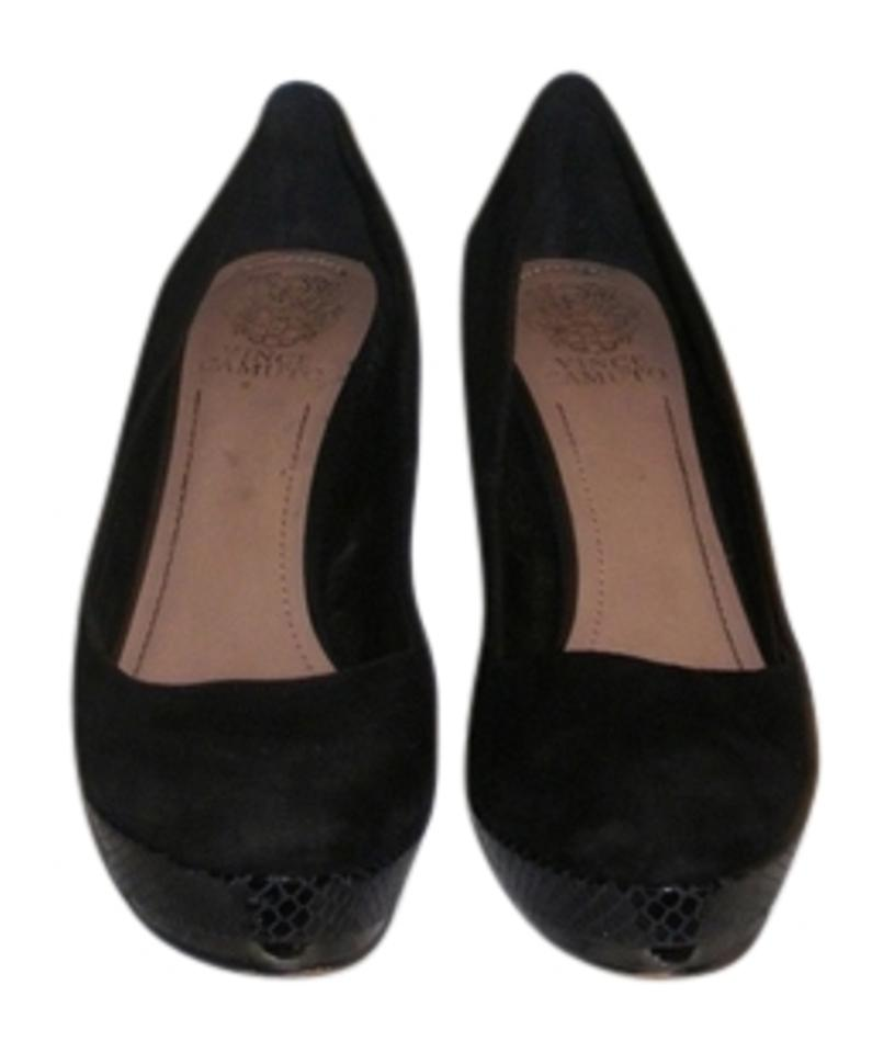 ae862ad29b1 Vince Camuto Black Suede Snakeskin Pattern Pumps Size US 8.5 Regular ...