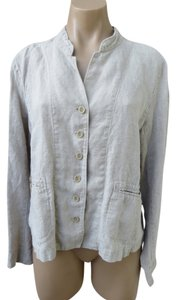 Eileen Fisher Ecru Long Sleeve Top Tan