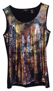 Verve Ami Top Black with colorful sequins