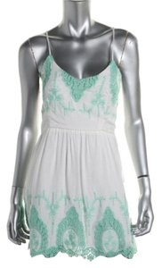 Meghan short dress White Green on Tradesy