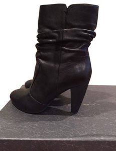 Via Spiga Leather Bootie Black Boots
