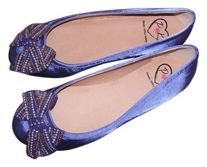 Penny Loves Kenny Beaded Blue Flats