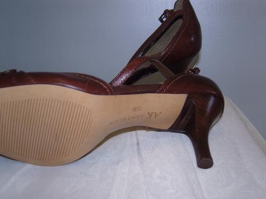 Anne Klein Leather Dark Brown Sandals