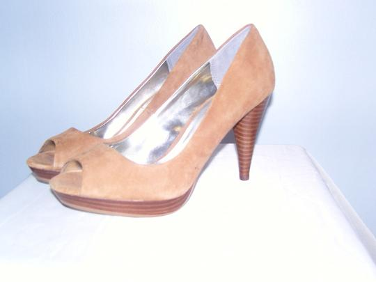Style & Co Leather Tan; beige Pumps